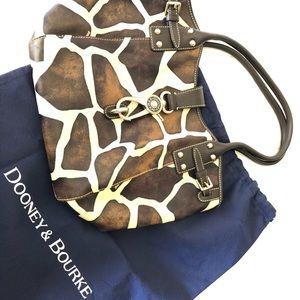 Dooney & Bourke Lock Satchel Giraffe Handbag